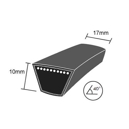 DRY-4L895K Quality Brand Re-inforced Mower Wrapped V-Belt